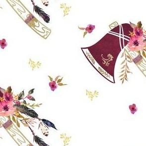Custom Tomahawk Floral