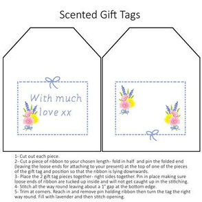 Floral gift tag - white