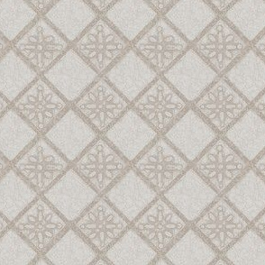 Antique French Tile - biscuit beige