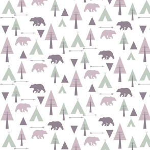 bear camp // lavender & mint