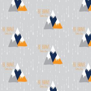 Move Mountains Orange + Grey + Navy