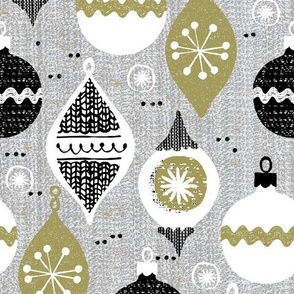 vintage ornaments - grey