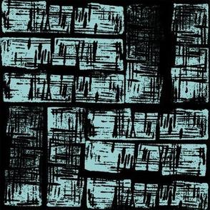 Haphazard- Black on Blue