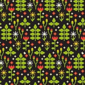 Pixel art flowers