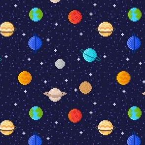 Pixel art planets