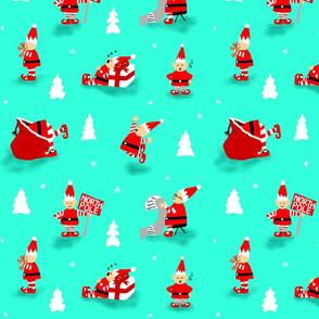 Retro Elf Christmas