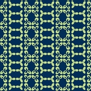 geometric clover leaf lime/navy