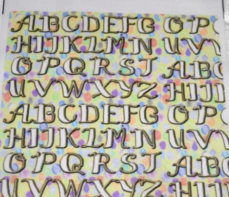 White Calligraphy Alphabet