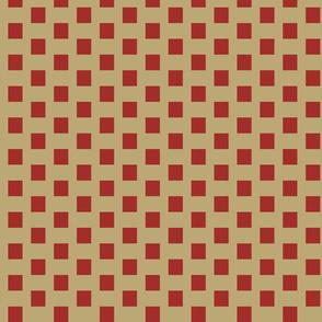 Vintage Red Geometrics on Camel