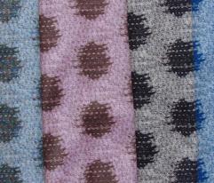 Kasuri Weave - pink, brown