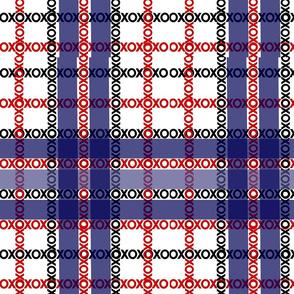 XOXO Blue & Red Plaid