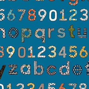 Letters & Numbers (blue)
