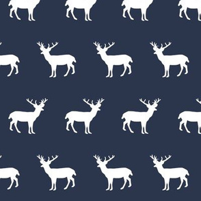 deer forest silhouette deer fawn kids navy blue simple nursery baby boy fabric for boys nursery outdoors camping hunting doe buck kids design for boys