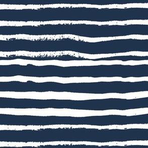 hand painted stripes navy blue kids simple scandi design coordinate simple woodland forest kids boys nursery
