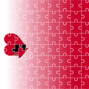 Jigsaw Puzzle Heart Small - Red