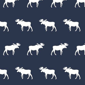moose simple moose design navy blue kids simple design for baby nursery boy outdoors camping