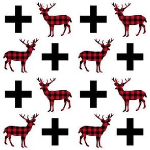 deer plus buffalo plaid deer buck hunting buck