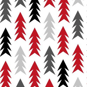 red black and grey trees forest woodland camping hunting tree