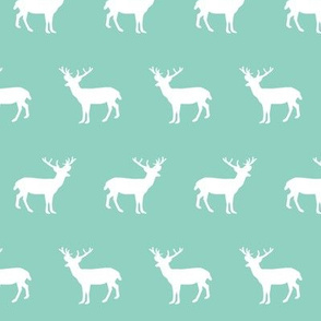 deer silhouette green christmas xmas holiday christmas deer woodland  mint baby cute christmas