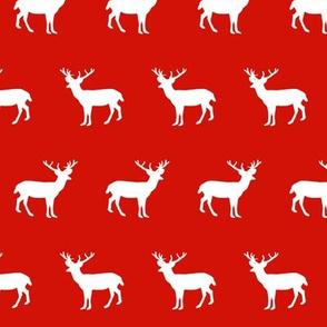 deer silhouette red christmas xmas holiday christmas deer woodland