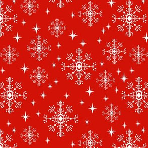 snowflakes red christmas holiday xmas snow winter