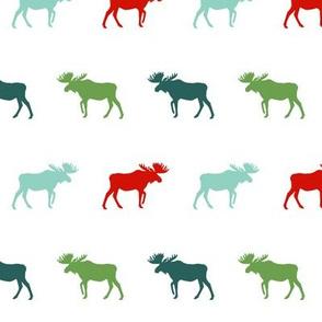 moose green and red christmas moose silhouette simple baby nursery christmas
