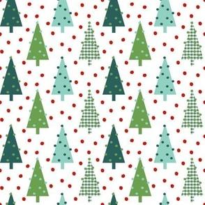 plaid green christmas trees cute xmas holiday christmas