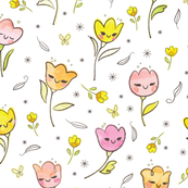 Tulip Dance (White background)