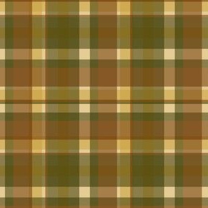 Fall Olive Plaid