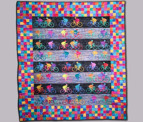 Triathlon Quilt - Square Border