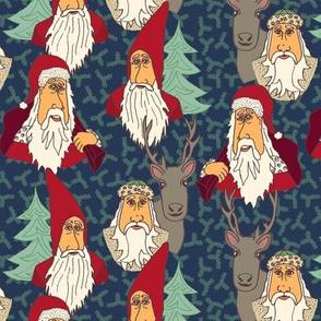Cartoon Santa Vintage Styles
