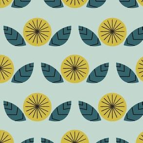 Mod Flowers in Mint