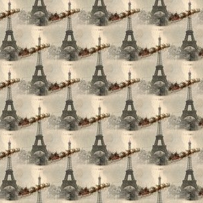 Vintage Santa over Paris