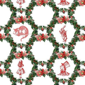 holly_wreath_alice_in_wonderland_red