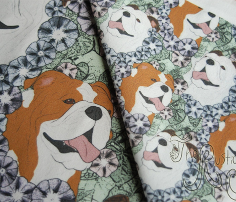 Floral Bulldog portraits - small