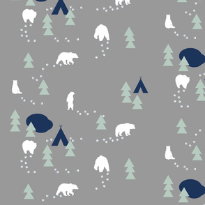 Bear Trail - grey