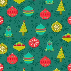 Vintage Christmas - Evergreen Medium