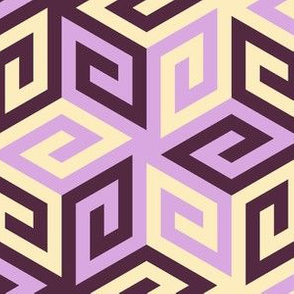 greek cube : twilit amethyst skies