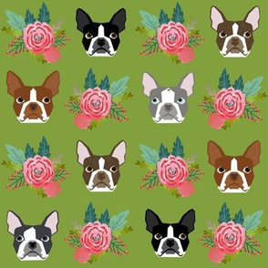 boston terrier floral face cute dog best boston terrier fabric for dog owners dog lovers cute dogs
