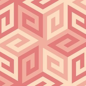 greek cube : trendy1 blush pink