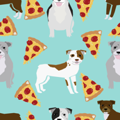 pitbull terrier pizza mint dog dog breed funny dog pizza novelty design pizza food cute dog pets