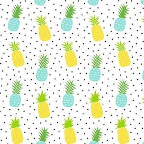 pineapples + sky blue :: fruity fun