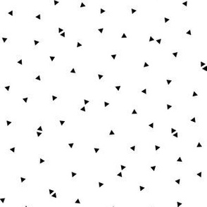 triangle confetti black white :: fruity fun