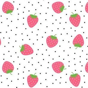 strawberries pink :: fruity fun bigger