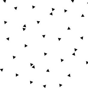 triangle confetti black white :: fruity fun bigger