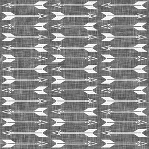 arrows on grey linen