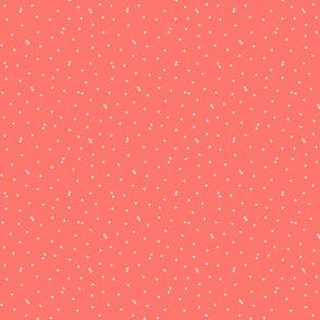 triangle confetti coral :: fruity fun