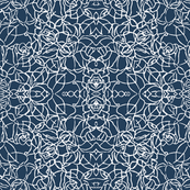 Knotted Rose - Moroccan Blue