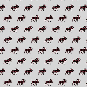 (micro print) moose plaid on fog