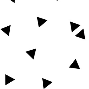 triangle confetti black white :: fruity fun huge